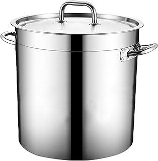 Seau à fermenter en acier inoxydable 304 avec couvercle en métal Flour Stockage Conteneur à soupe de qualité alimentaire B...