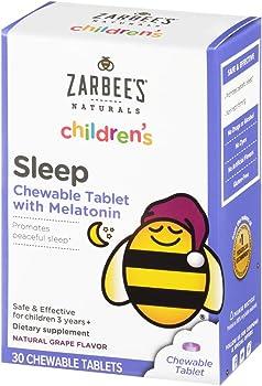 30-Count Zarbee's Naturals Children's Sleep with Melatonin Supplement