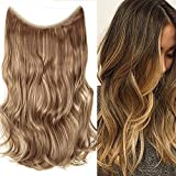 20'(50cm) Extensiones de Cabello Natural con Hilo Invisible