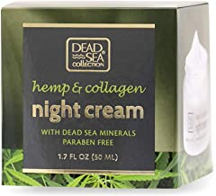Dead Sea Collection Night Cream with Hemp & Collagen helps nourish and hydrate you skin while you sleep 1.69 fl.oz