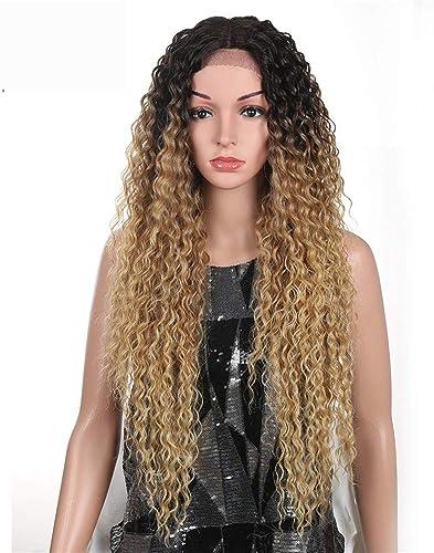 Perücke Haarteile  ser-Haar Der Hohen Temperatur 32 Zoll-Natürliche Blonde Synthetische Spitze-Front-Perücken Für Schwarz Frauen