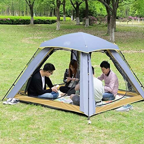 Tents Zelt Outdoor Zelt Dickes Regenschutzzelt 3-4 Personen Camping Zelt,Beige,215 * 215 * 135 cm