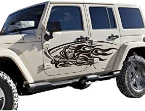 giftcity Car Decal, 1 Set Grim Reaper Decal Stickers for Car Body, Universal Vinyl Car Stickers (Black)