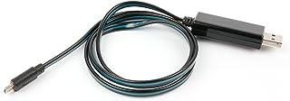 DURAGADGET Cable USB a Micro USB con Flujo de Luces LED de Color Azul. para GPS Tomtom Go Basic 5 Inch, Tomtom Go Basic 6 ...