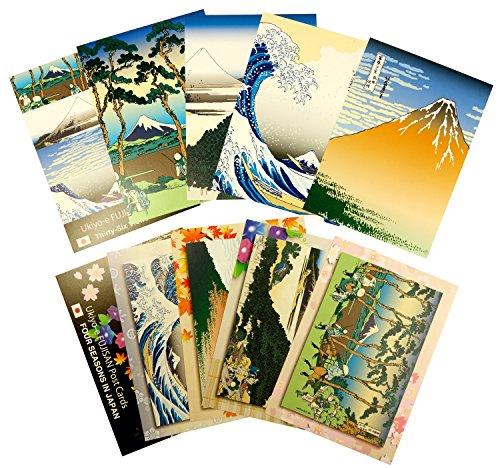 『日興美術 ポストカード 富嶽名作選 四季の富士山 10枚セット NRS0015』の1枚目の画像