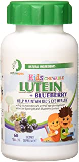 Nature Spec Kids Chewable Lutein Premium Blueberry Flavor Taurine Vitamin Zinc Eyebright Extract Lycium Extract Kid's Eye ...