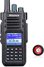 Ailunce HD1 Digital Walkie Talkies Waterproof IP67 GPS UHF VHF 3000 Channels 200000 Contacts 3200mAh Rechargeable Li-on Battery FM DMR Radio (1 Pack)