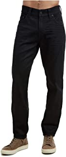 True Religion Men's Rocco Coated Skinny Fit Stretch Jeans in Midnight Black