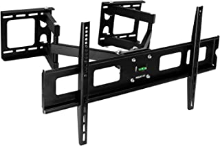 Mount-It! Corner TV Wall Mount Full Motion | TV Wall Bracket fits 37 to 63 inch TVs | VESA Mount up to 800x400 | Support TV Mural, 125 Lb Weight Limit