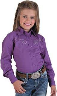 Rod's Exclusive Sparkle Blouse for Girls Grape