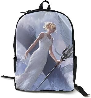 Final Fantasy XV-Luna Anime Cartoon Cosplay Canvas Shoulder Bag Backpack Classic Lightweight Travel Daypacks School Backpack Laptop Backpack