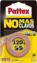 Pattex No Más Clavos Cinta, cinta adhesiva para aplicaciones permanentes, cinta de doble cara extrafuerte, adhesivo de mon...
