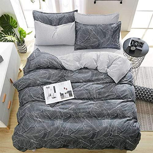 Cvthfyky Literie Feuille Taie Bandes onduleuses Maison Textile Couvre-lit de Maison de Mode LITERIE de Haute qualité (Couleur : 1, Size : 180 * 220)