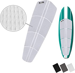 Own the Wave SUP 'Non Slip' Traction Pad - 12 Piece Diamond Tread Paddle Board Deck Grip with 3M Adhesives (Black, Grey, or White)