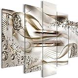 murando Cuadro en Lienzo Abstracto 200x100 cm Impresión de 5 Piezas Material Tejido no Tejido Impresión Artistica Imagen Grafica Decoracion de Pared Diamante a-B-0083-b-p