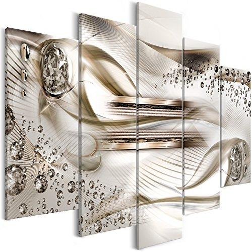 murando Cuadro en Lienzo Abstracto 100x50 cm Impresión de 5 Piezas Material Tejido no Tejido Impresión Artistica Imagen Grafica Decoracion de Pared Diamante a-B-0083-b-p