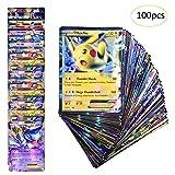 Anivia Jeux De Cartes 100 Pcs Pokemon Cartes Style TCG Holo EX Full Art 80 Cartes EX...
