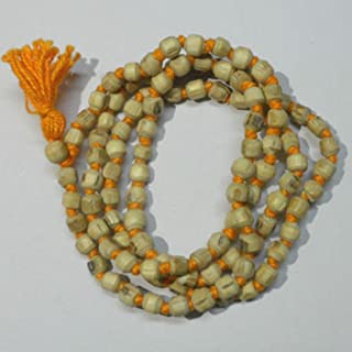 Odishabazaar White Tulsi Beads Mala for Removing Inner Doshas Awakening Chakras