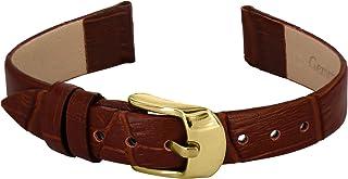 Bracelet de Montre Doon en Cuir, Marron Effet Alligator, Bande 14mm