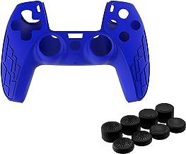 Homyl Capa protetora antiderrapante de silicone à prova de poeira para controle PS5 – Azul