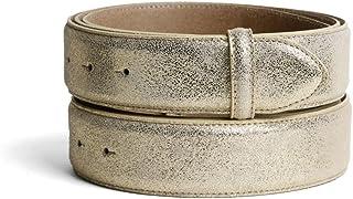 senza fibbia VaModa Cintura in pelle modello Doncaster belt colore bordeaux