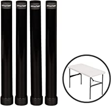 Lift Your Table Folding Table risers Extenders Straight Leg KIT. Save Your Back! (Kit for Folding Table You Already own)