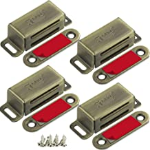 Kastmagneten Jiayi 4 Stuks bronzen kastdeurmagneet Trek magnetische deurvanger Roestvrijstalen magnetische vergrendelingen...