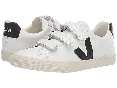 VEJA 3-Lock Logo (Extra White/Black Leather) Athletic Shoes