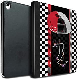 eSwish PU Leather Book/Cover Case for Apple iPad Pro 12.9 2018/3rd Gen Tablets/Singapore Design / F1 Track Flag Collection