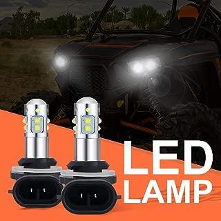 50W LED Headlights Bulbs for Polaris Ranger 400 500 700 800 RZR 570 Super White Lamp Bulbs