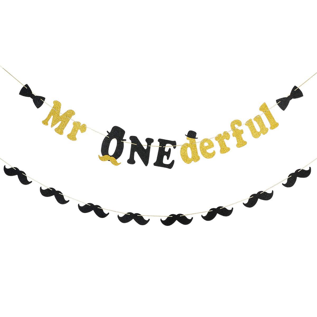 One-derful Banner First Birthday Highchair Banner Mr Onederful Dapper Little Man Fabric Bunting Rag Tie Garland Banner Photo Backdrop Prop
