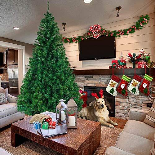 FGVBC 6FT künstlicher Weihnachtsbaum Klappbarer Douglasien-Weihnachtsbaum mit Metallständer, Premium Unlit Spruce Full Tree mit 1000 Astspitzen,