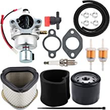 Dalom 12 853 107-S Carburetor w 12 083 10-S Air Filter 12 050 01-S Oil Filter for Kohler CV490 CV491 CV492 CV493 Toro 74601 74603 74701 74702 Riding Mower Tune-Up Kit