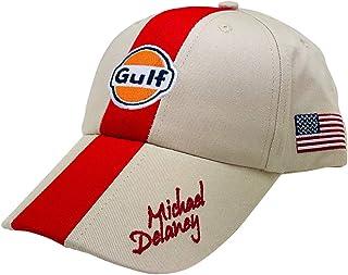 [ Gulf ] ガルフ モータースポーツ オフィシャル CAP サンドベージュ×レッド M.Delaney