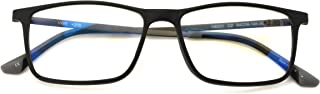 TR90 /w Flexible Titanium B Rectangle Reading Glasses - AR Anti-Reflective Coating - Computer