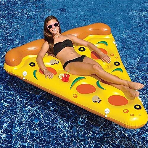 YLXD Pizza Stück Luftmatratze 180 x 150 cm - Aufblasbare Wasserhängematte Lustige Schwimmliege für Pool Schwimmbad Urlaub Strand Meer für Erwachsene