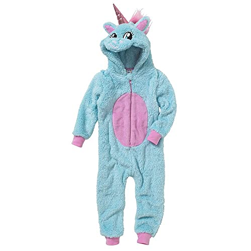 92304cbd343a Onesies Animal Crazy Girls Supersoft Glitter Fleece Unicorn Jumpsuit  Playsuit