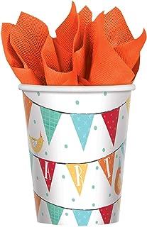 Amscan 582172 Barnyard Birthday Paper Cups 266ml-8 Pcs, Colour