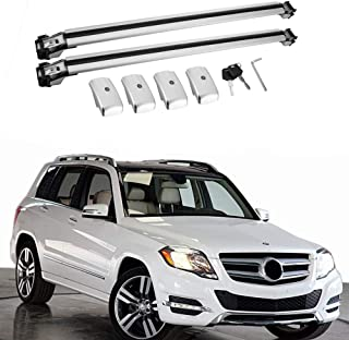 MotorFansClub Crossbar Cross Bars for Mercedes Benz GLK X204 GLK350 2009-2015 Luggage Rack Top Roof Rack