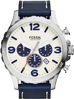 ساعة فوسيل نايت للرجال - انالوج بسوار جلدي - JR1480