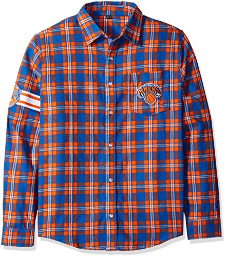 New York Knicks Wordmark Basic Flannel Shirt Extra Large