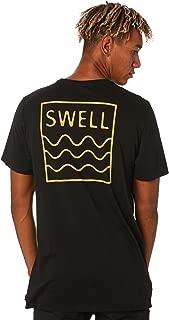 Swell Men's Box Tee Crew Neck Short Sleeve Cotton Black