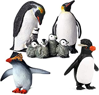 NBHUZEHUA Penguin Figurines Zoo Playset Artic Ocean Mini Animal Family Figures Fun Learning Educational Toys for Kids Boy