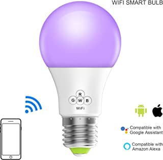 Magic Hue Smart WiFi Light Bulb, No Hub Required, IFTTT iOS Android App Alexa Google Siri Voice Controlled Multicolored Dimmable Sunrise Household Smart Light Bulb