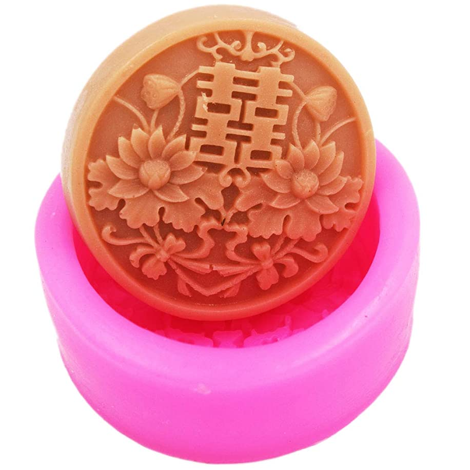 Longzang China Red S008 Craft Art Silicone Soap Mold Craft Molds DIY Handmade Soap Molds
