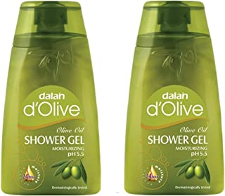 Dalan d'Olive - Pure Olive Oil Shower Gel (250 ml), Imported from Turkey - Twin Pack