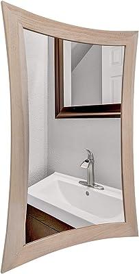 EcoDecors Curvature Teak Wall Mirror, 24 x 35, Driftwood