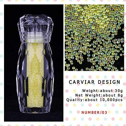 Poudre à ongles,Mini perles scintillantes Micro Perle Conseils Or Rose Minuscule 3D Nail Art Décoration 1 Bouteille-03