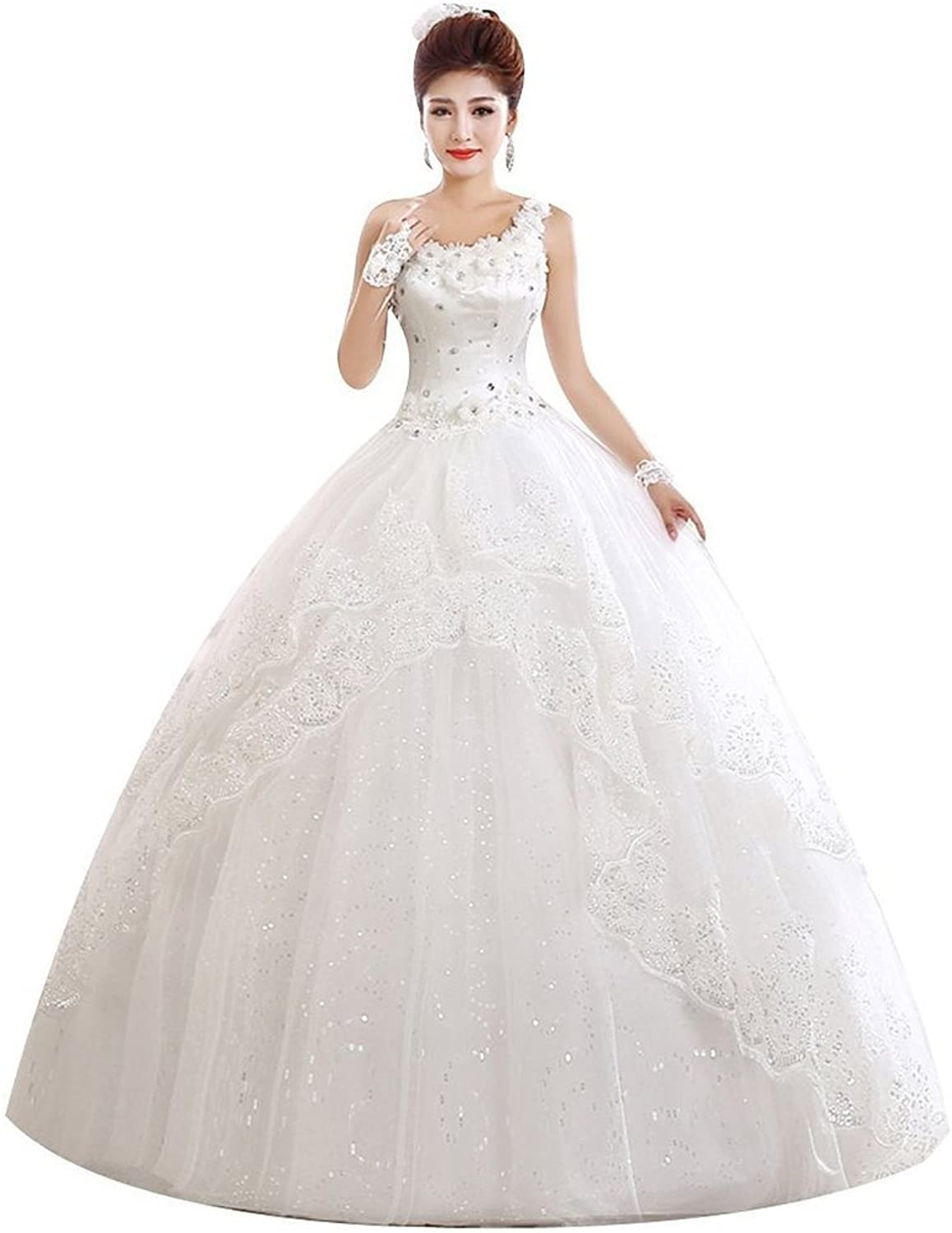 Shanghai Story One Shoulder Sleeveless Brial Gown Wedding Dress