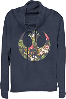 Star Wars Juniors' Rebel Alliance Floral Print Cowl Neck Sweatshirt